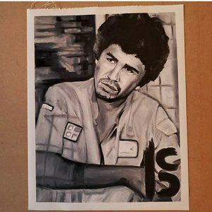 RAFA Black and White Oil Painting On Canvas Paper